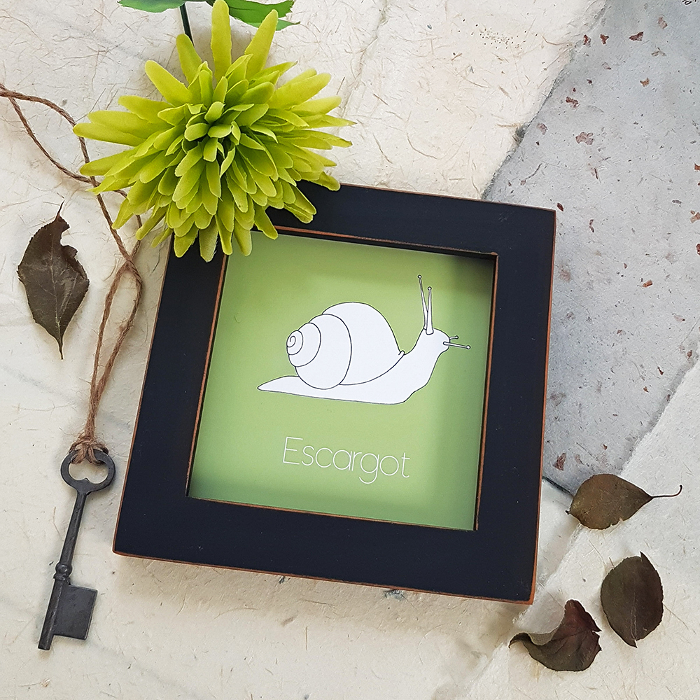Escargot Contemporary Illustration Wall Art Print Product Lifestyle