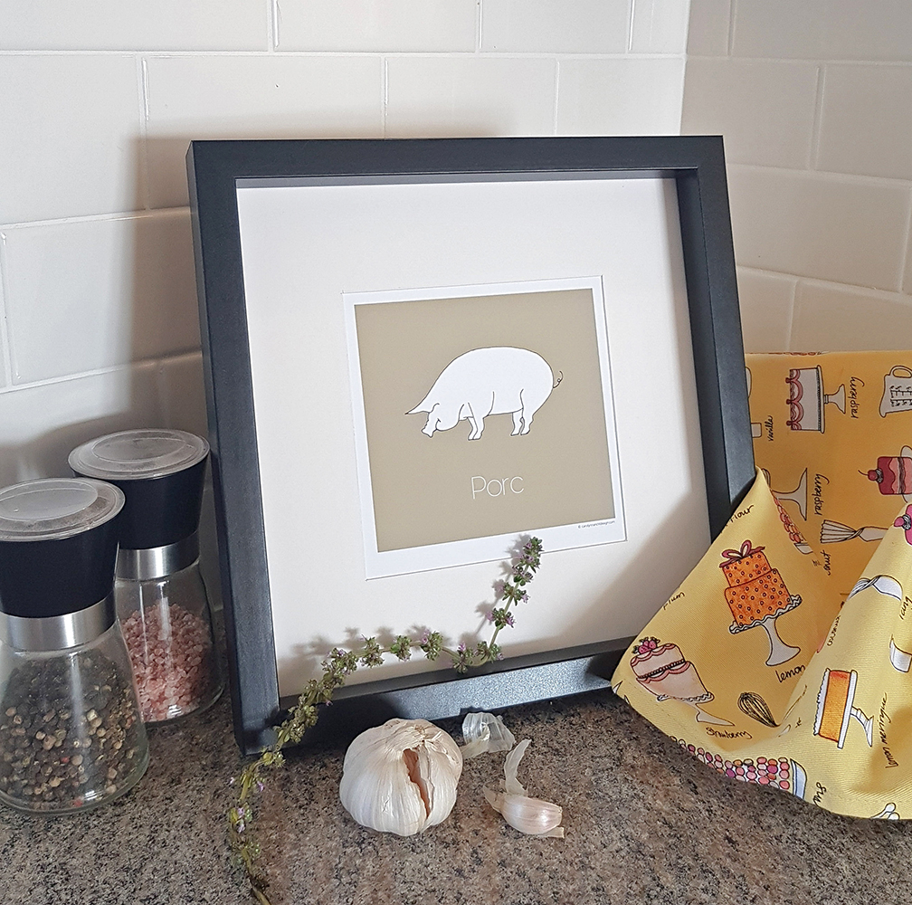 Pig-Porc Contemporary Animal Wall Decor Lifestyle Product