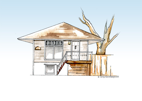 Two story house illustration
